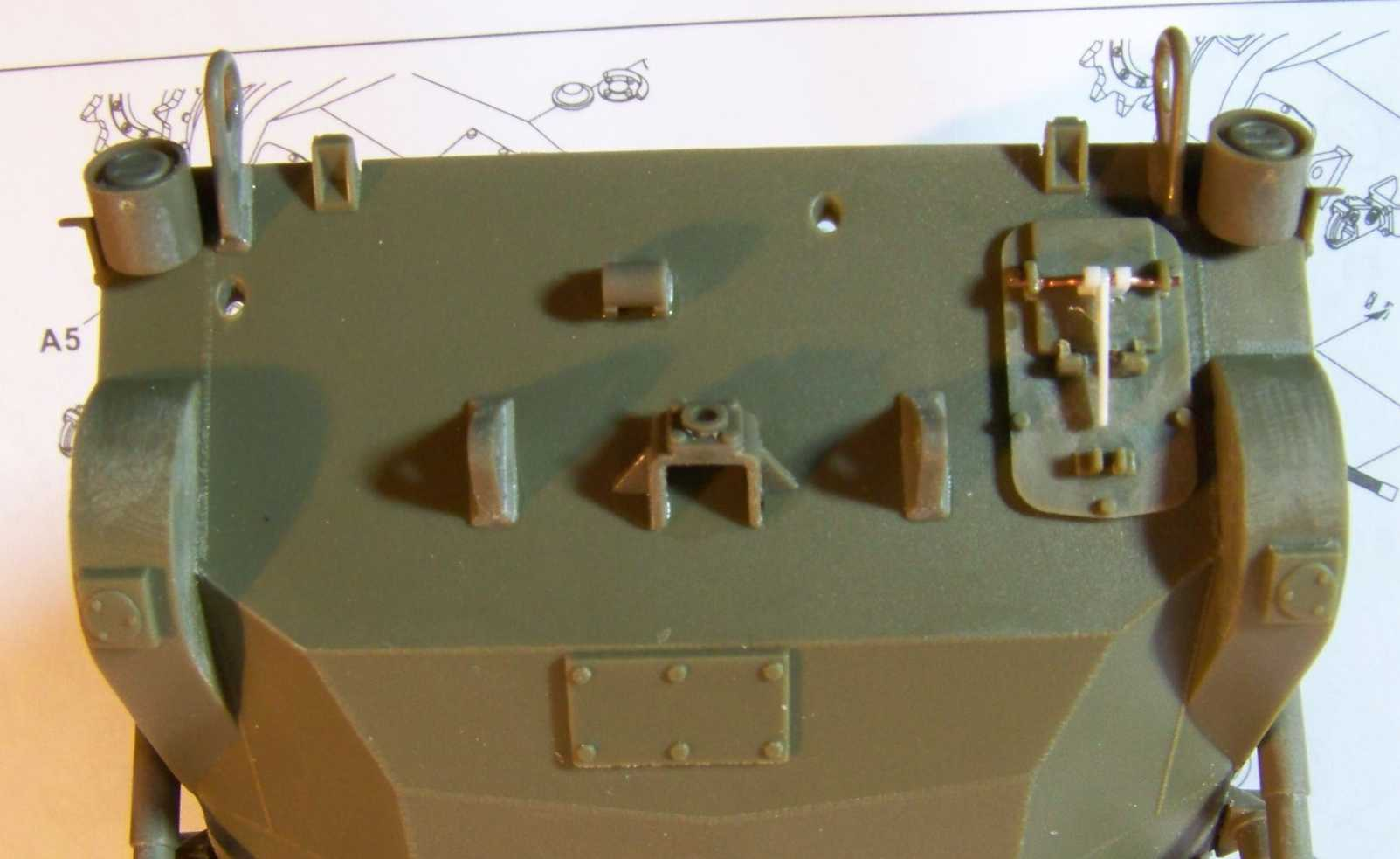 1:35 M42A1 Duster rear hull wall