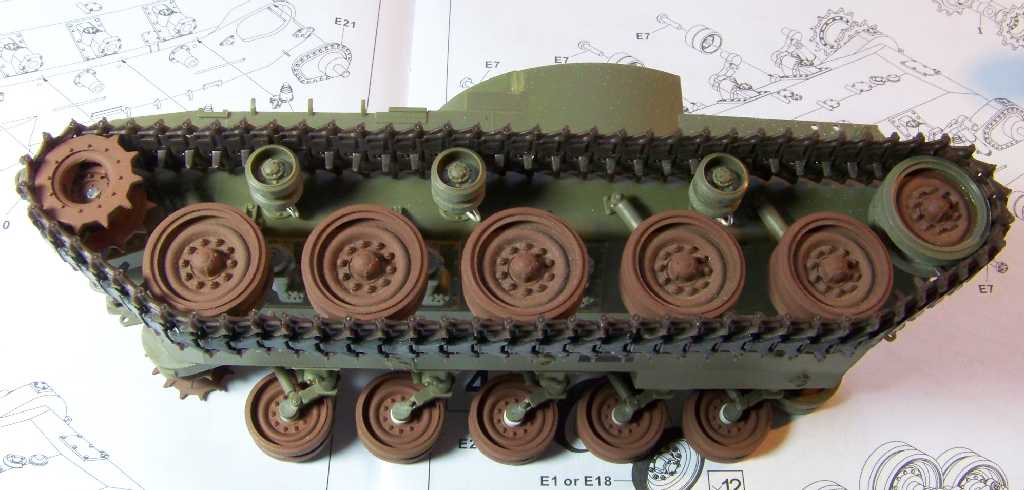 1:35 M42A1 Duster - hull, wheels & track