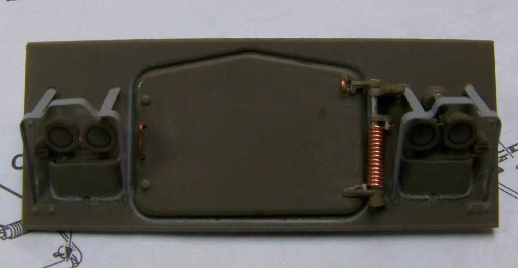1:35 M42A1 Duster - glacis armor plate