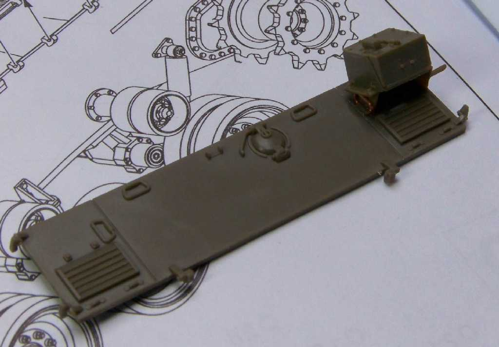 1:35 M42A1 Duster - rear armor plate