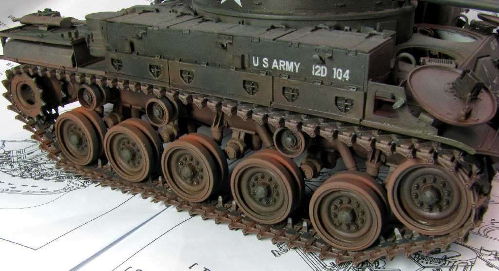 1:35 M42A1 Duster - podwozie