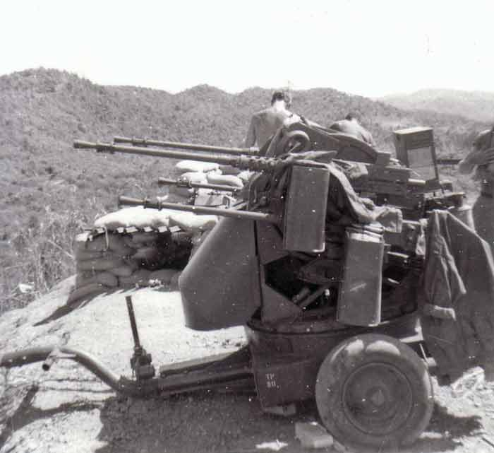 M55 Quad 50 Vietnam with non-standard ammunition containers